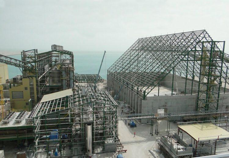 Obra Industrial. Grupo Zinc. Refineria azucar. Manama, Bahrein