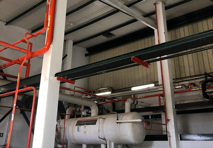 Refuerzo de estructura en Procavi. Obra Industrial. Grupo Zinc.