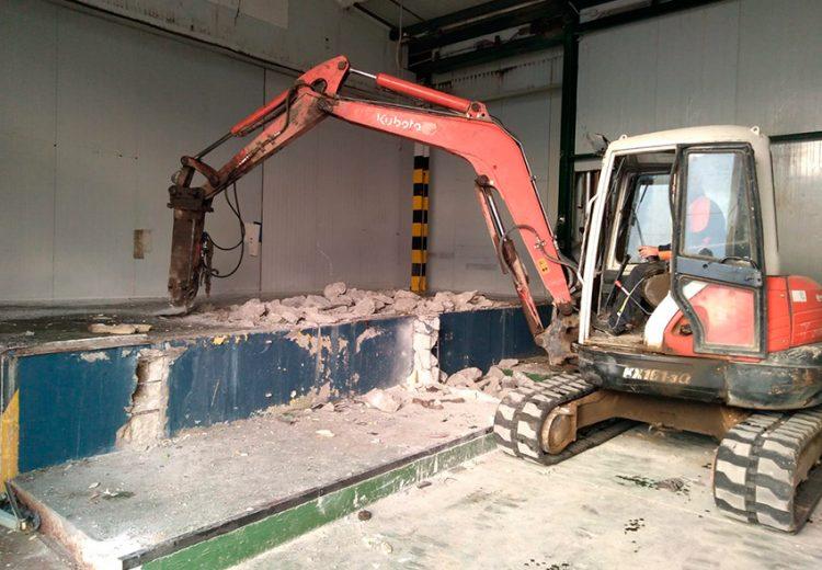Tunel de congelación en Procavi. Obra Industrial. Grupo Zinc.